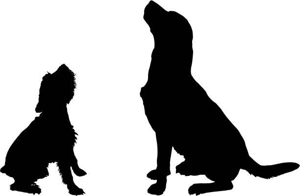 royalty free big dog small dog clip art vector images