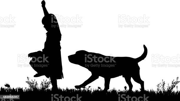 Vector silhouette of a girl with a dog vector id483868382?b=1&k=6&m=483868382&s=612x612&h=g1zusfhbmubktii7tpzg qb90hhjxpncuhyocd  lvw=