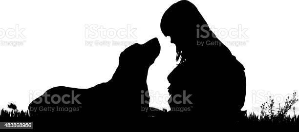 Vector silhouette of a girl with a dog vector id483868956?b=1&k=6&m=483868956&s=612x612&h=di zic 3q cjfguxzpd8jufopx07xgzmlvvxoyzvdfg=