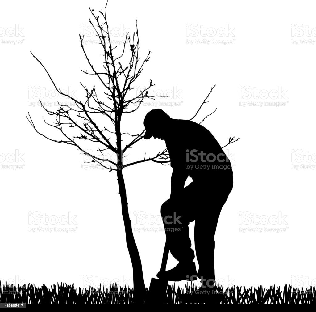 Vector silhouette of a man. royalty-free stock vector art