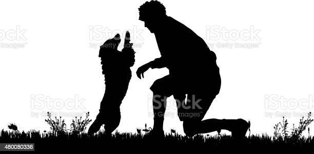 Vector silhouette of a man with a dog vector id480080336?b=1&k=6&m=480080336&s=612x612&h=fnefnkvov4g3smy rz31p0zny ekrbadyntdrkj j s=