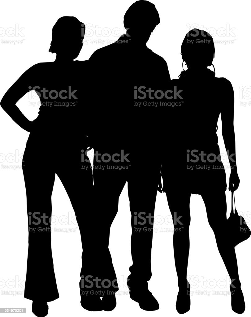 Silhouette couple sexy love