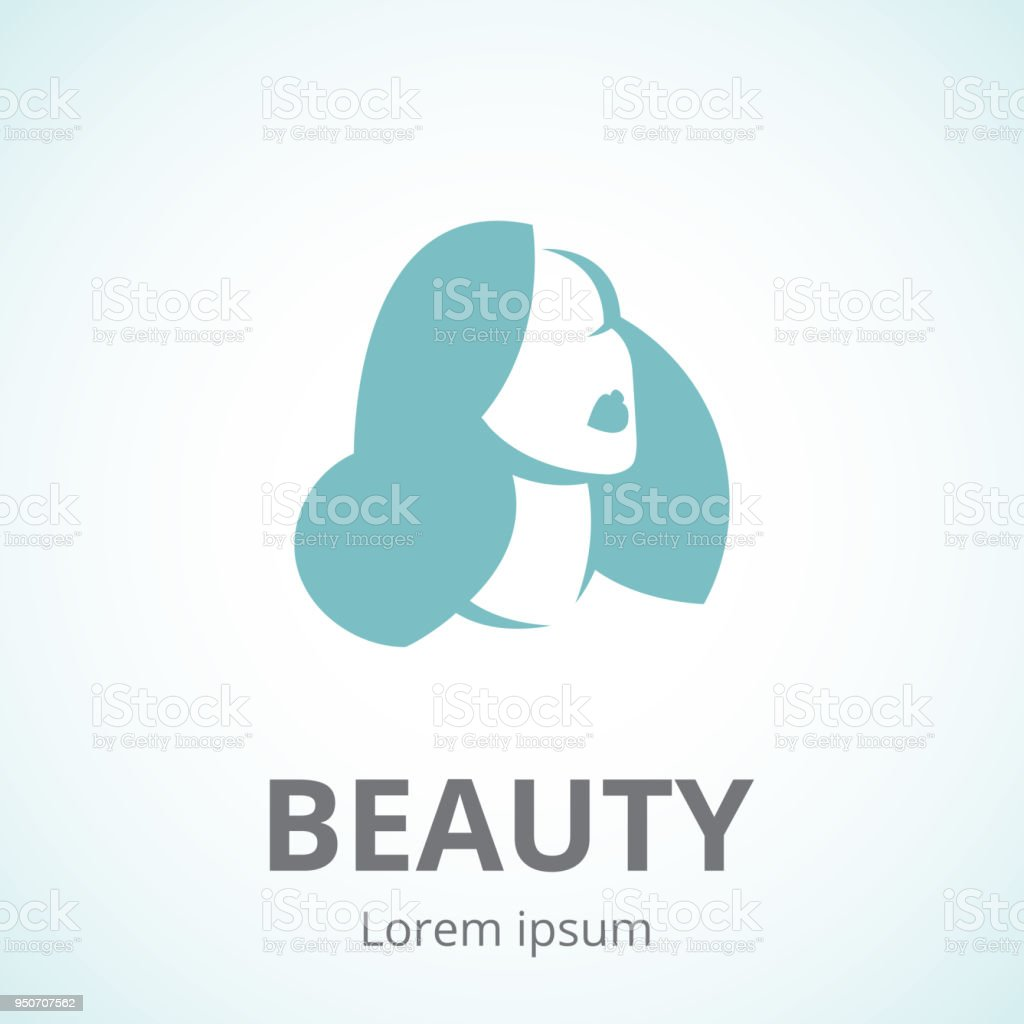 Vector Silhouette Of A Woman In Profile Template Icon Or An Abstract ...