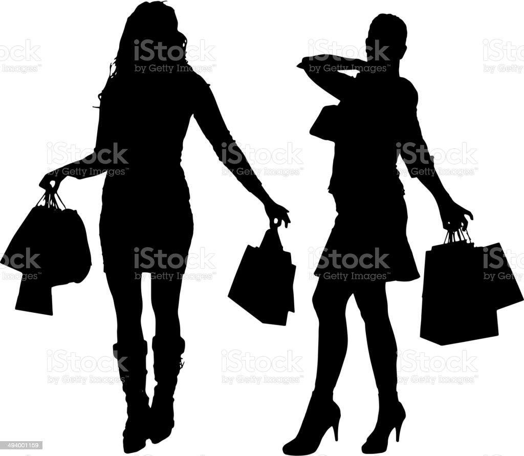 ベクトルシルエットの女性 のイラスト素材 494001159 | istock