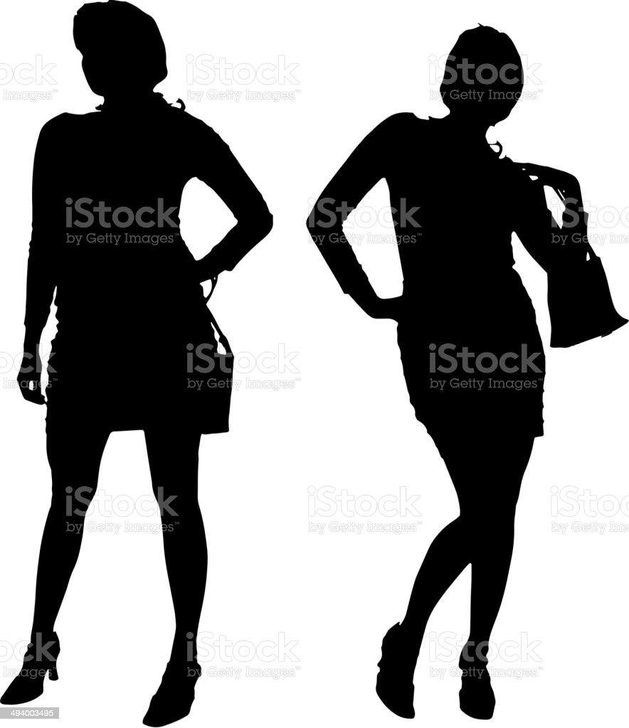 ベクトルシルエットの女性 のイラスト素材 494003495 | istock