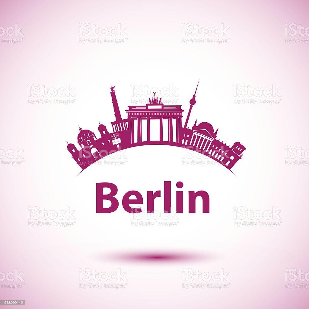 Vector silhouette of Berlin vector art illustration