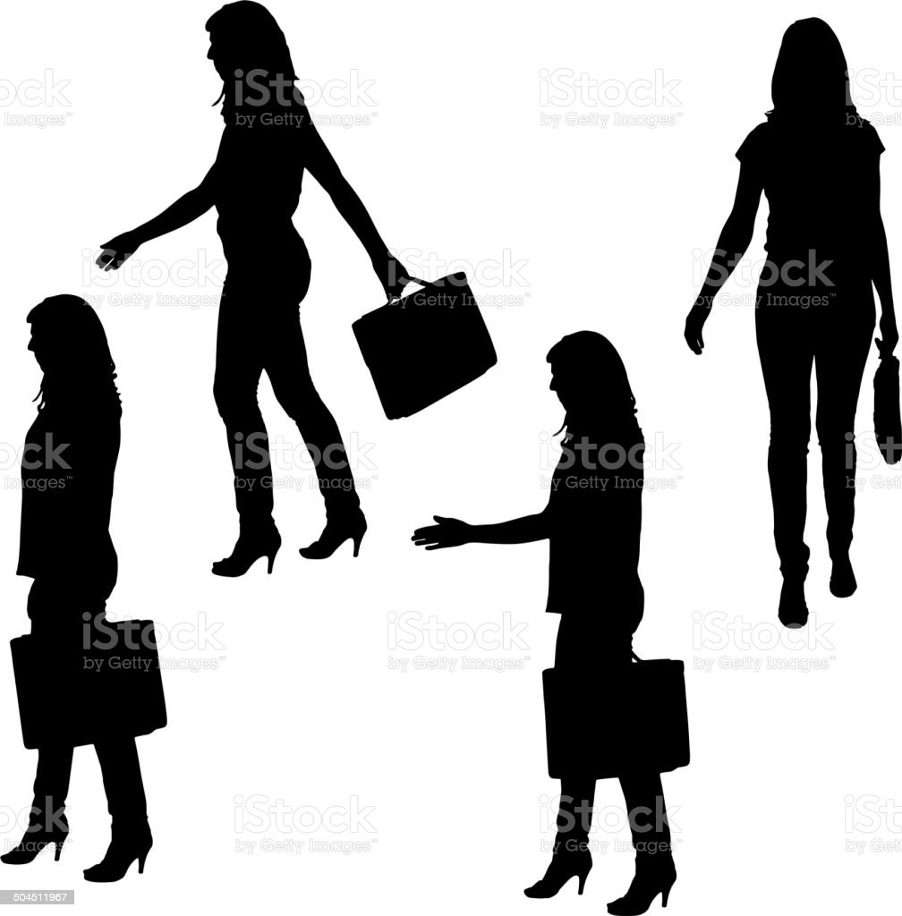 Vector silhouette of businesswoman. royalty-free stock vector art