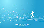 Concept background  music for kid and children.