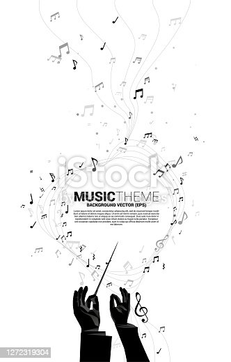 Concept background for classic music concert and recreation.