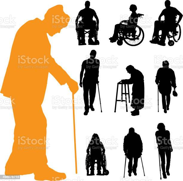Vector silhouette of disabled people vector id498078715?b=1&k=6&m=498078715&s=612x612&h=byyees6s7zwvoporwpvyolo2u2v deexef8dbawtsy8=