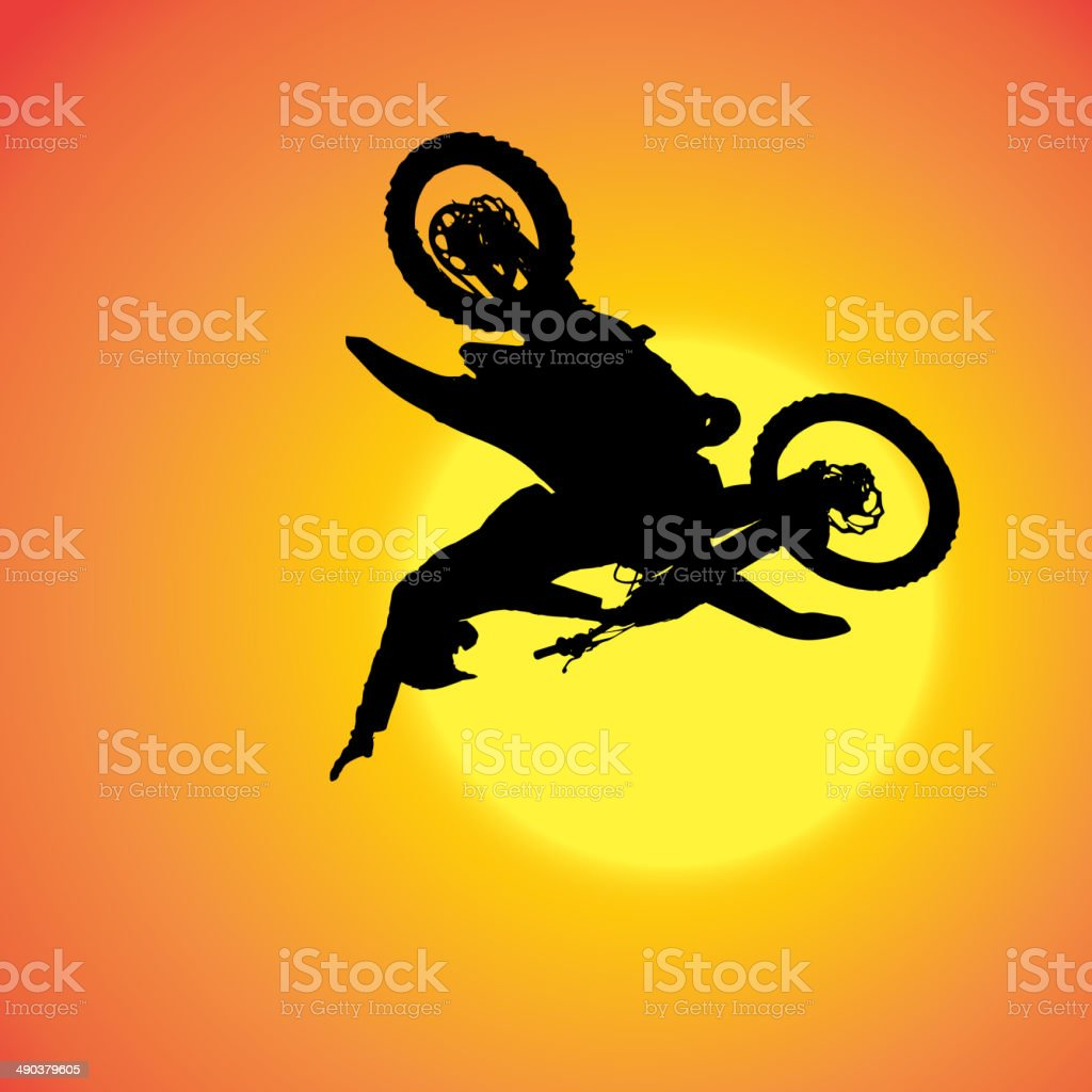 Vector silhouette of extreme jumps. royalty-free stock vector art