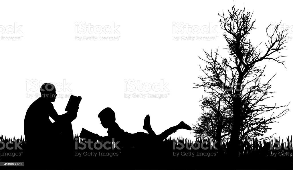 Vecteur de silhouette de famille. - Illustration vectorielle