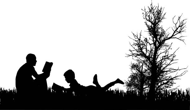Vektor-silhouette der Familie. – Vektorgrafik