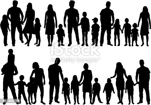 istock Vector silhouette of family. 941559258