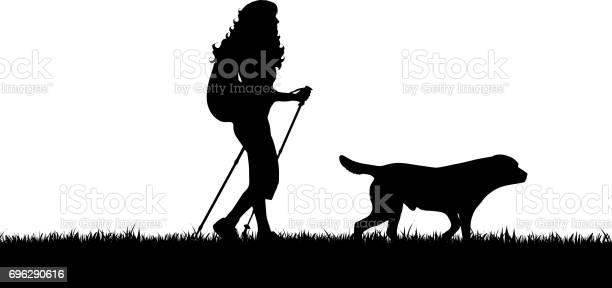 Vector silhouette of girl with dog on white background vector id696290616?b=1&k=6&m=696290616&s=612x612&h=cjgo6ygddtugnmfwqc5byjyl9xmpskqct sjfpizgio=