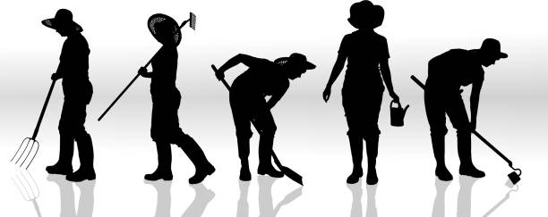 Vektor-silhouette eines Menschen. – Vektorgrafik