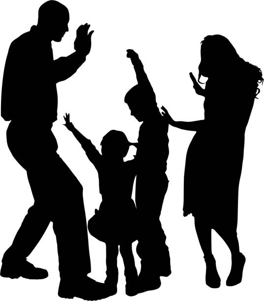 Silhouette Design Store - View Design #79526: father ... |Father Daughter Dance Drawings