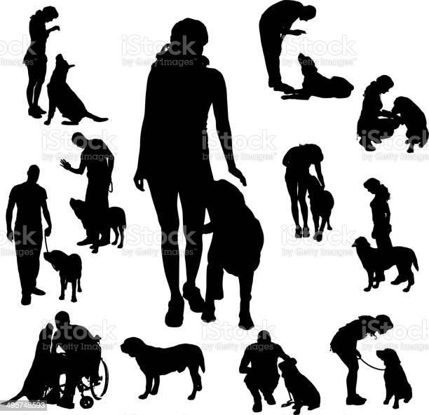 Vector silhouette of people with dog vector id495748593?b=1&k=6&m=495748593&s=612x612&h= ysbchxz93aeqvbaxddptz5hnuabjkjh1mhxonankda=