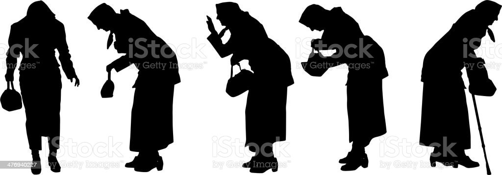 old lady purse clip art, vector images & illustrations - istock