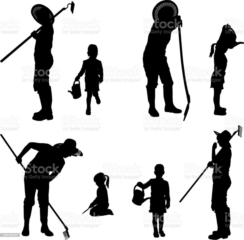 Vector silhouette of the woman. royalty-free stock vector art