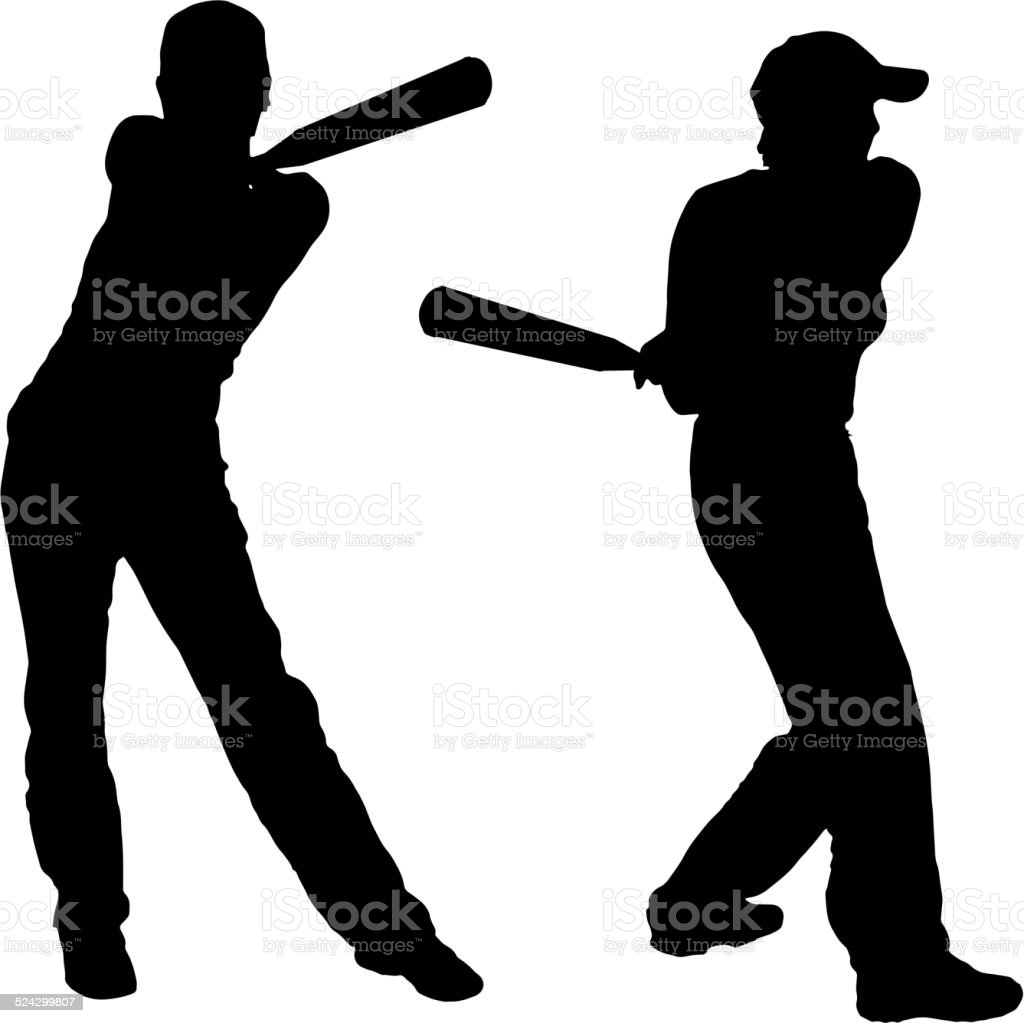 royalty free woman baseball bat clip art vector images rh istockphoto com Baseball Seams Vector Baseball Glove Vector