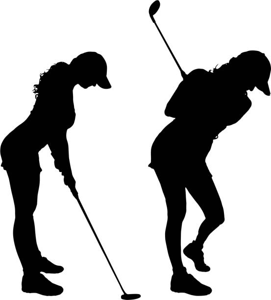 Royalty Free Female Golfer Clip Art Vector Images Illustrations