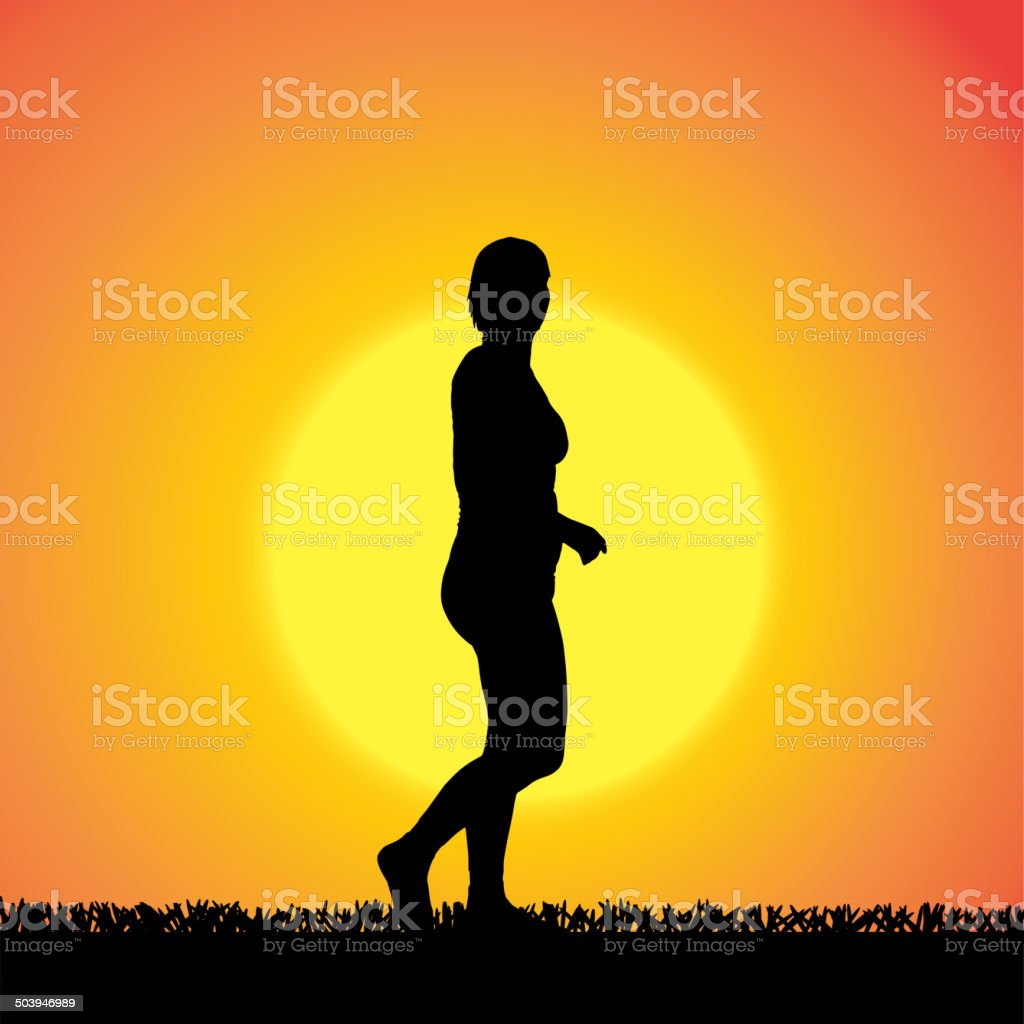 Vector silhouette of woman. royalty-free vector silhouette of woman stock vector art & more images of activity