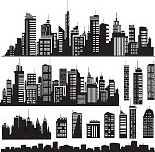 Vector   silhouettes for city's design
