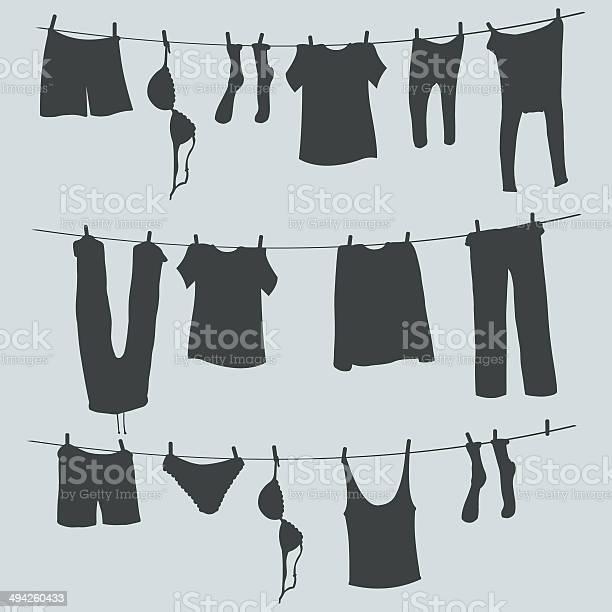 Vector silhouettes of laundry on a rope vector id494260433?b=1&k=6&m=494260433&s=612x612&h=atlkcf7lh bmp1eyakfbwrchphbsfhalzzrmvwzrl u=