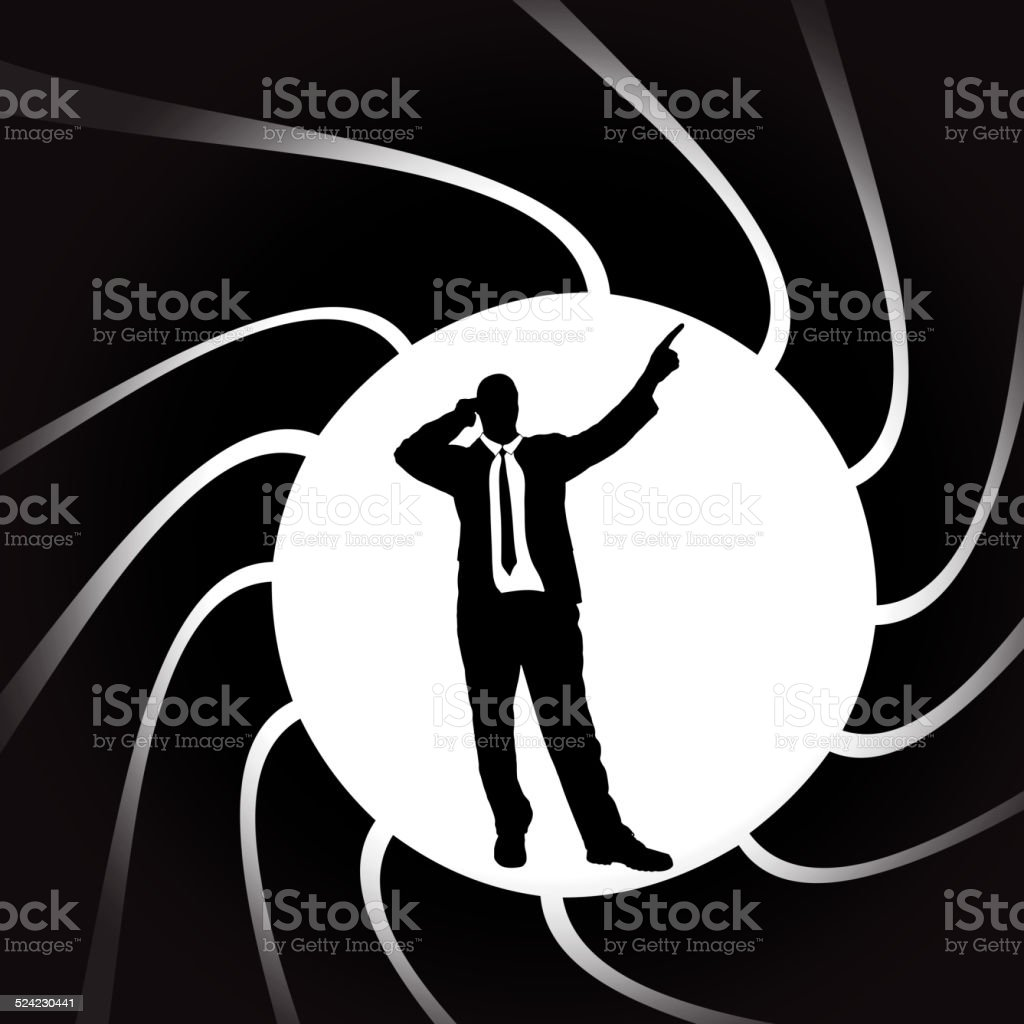 Vector silhouettes of man. vector art illustration