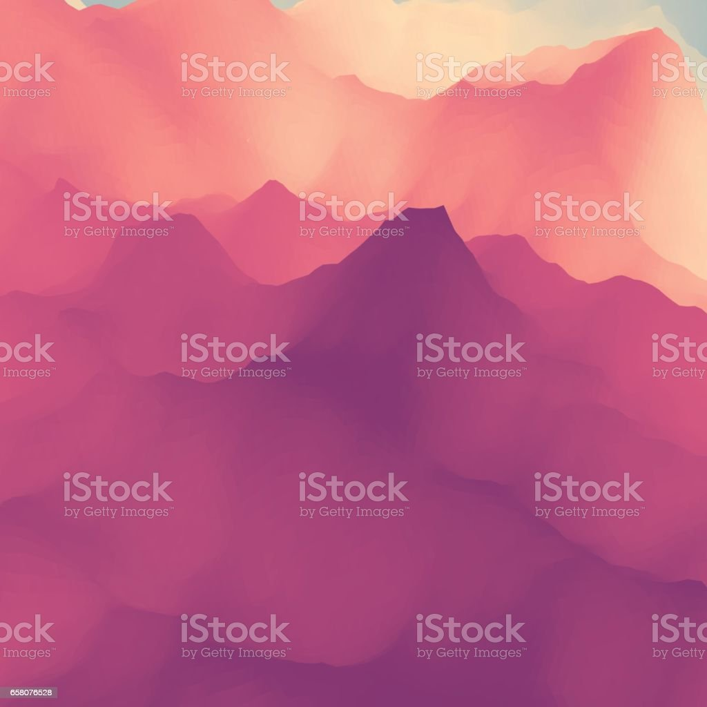 Vector Silhouettes Of Mountains Backgrounds. Mountain Landscape. royalty-free vector silhouettes of mountains backgrounds mountain landscape stock vector art & more images of abstract