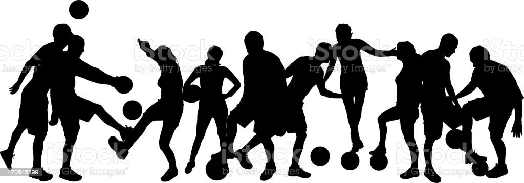 Vector silhouettes of people. royalty-free vector silhouettes of people stock vector art & more images of activity