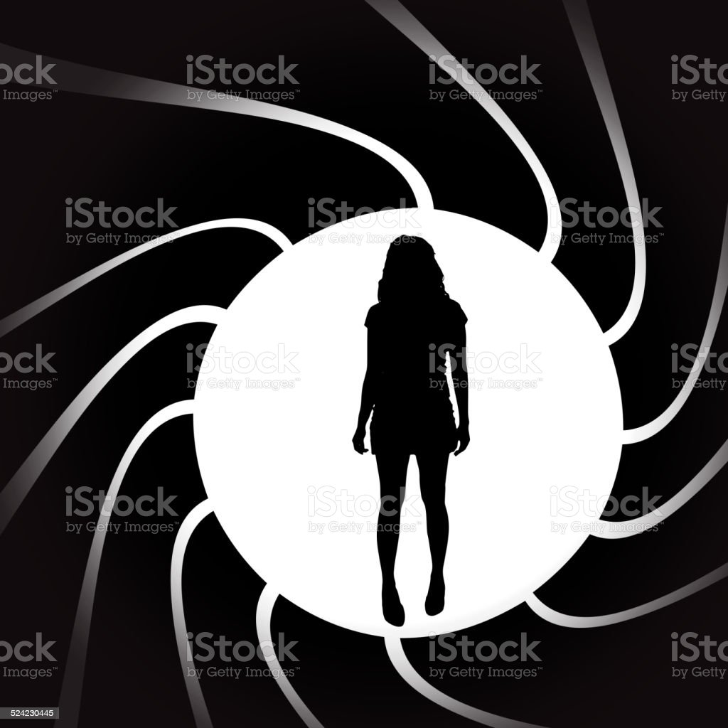 Vector silhouettes of sexy woman. vector art illustration
