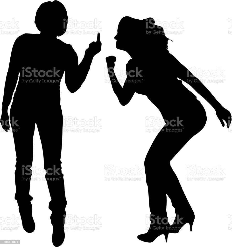 Vector silhouettes of woman. royalty-free stock vector art
