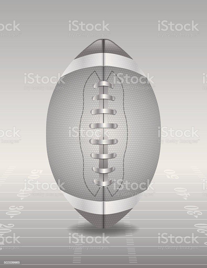 Vector Silver American Football and Field Illustration vector art illustration