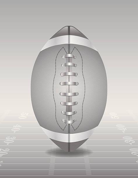 ilustrações de stock, clip art, desenhos animados e ícones de vector prata e ilustração de campo de futebol americano - primeiro down futebol americano