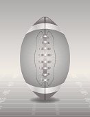 Vector Silver American Football and Field Illustration