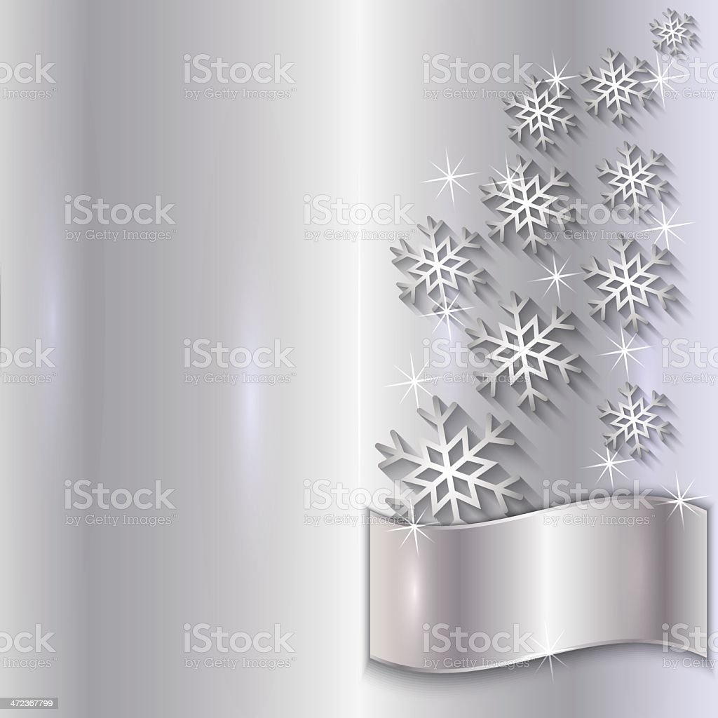 Vector Silver Invitation Card with Snowflakes royalty-free vector silver invitation card with snowflakes stock vector art & more images of aluminum