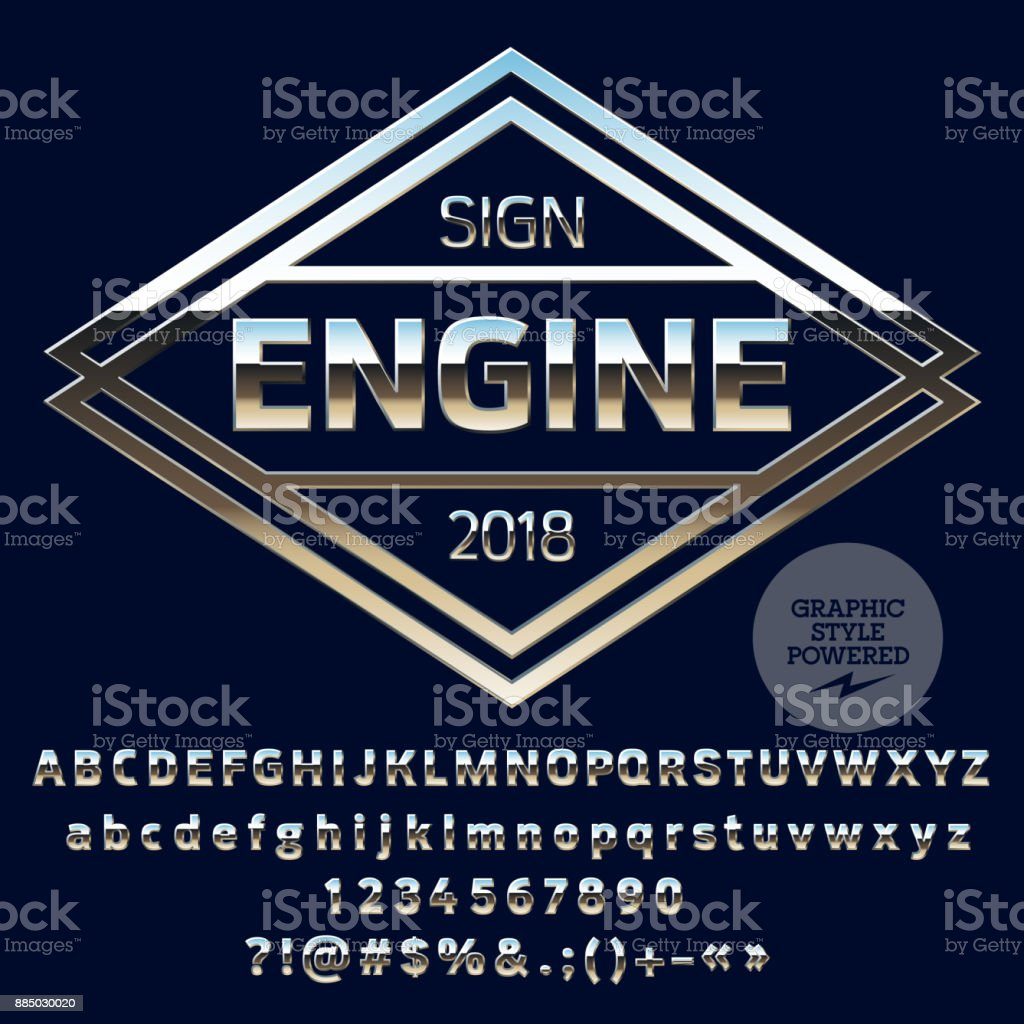Vector Silver Logo for Motorbike and Car Shop royalty-free vector silver logo for motorbike and car shop stock illustration - download image now