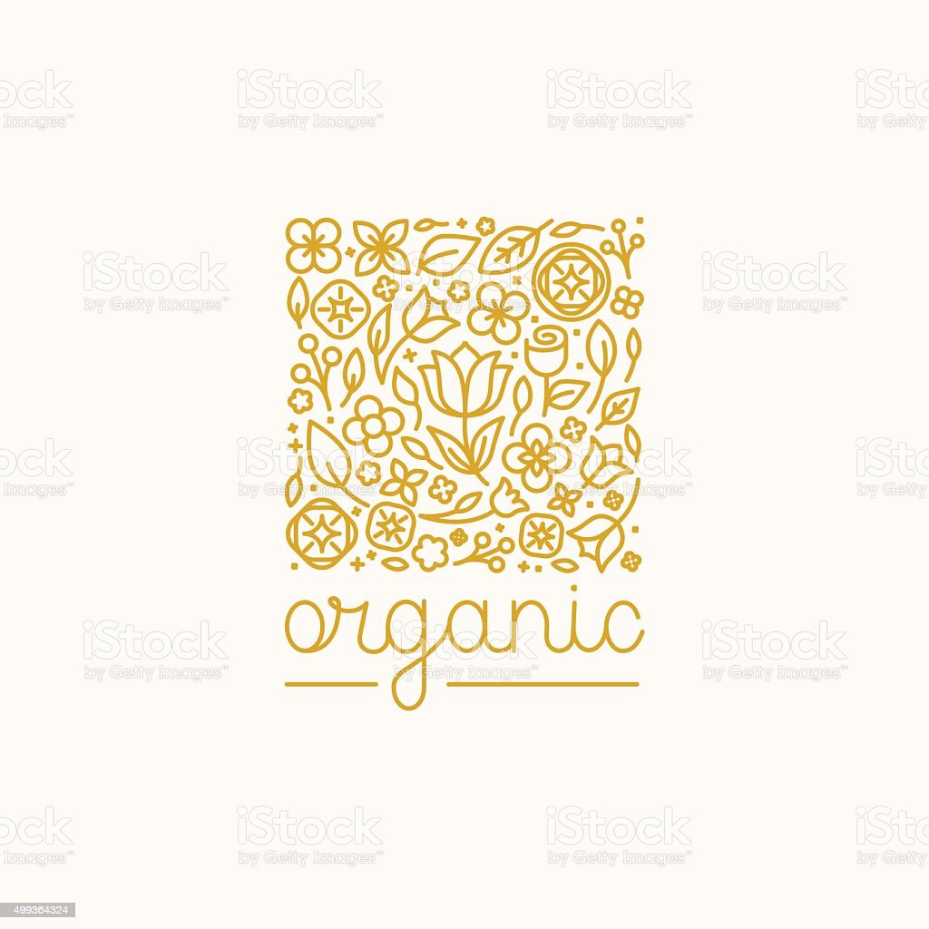 Vector simple and elegant logo design template vector art illustration