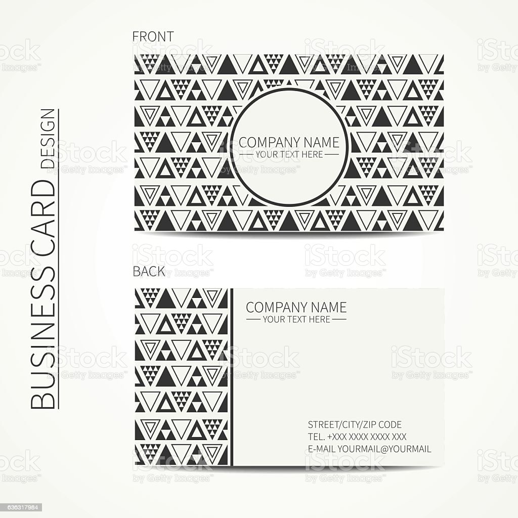 Vector Simple Business Card Design Business Card Trendy Calling ...