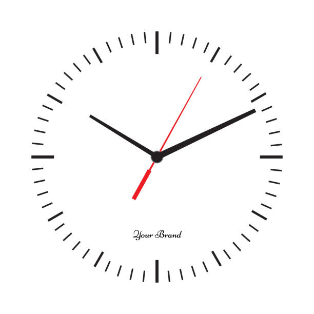 Vector simple classic clock icon without numbers vector art illustration