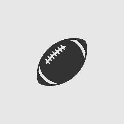 Vector Simple Isolated Football Icon