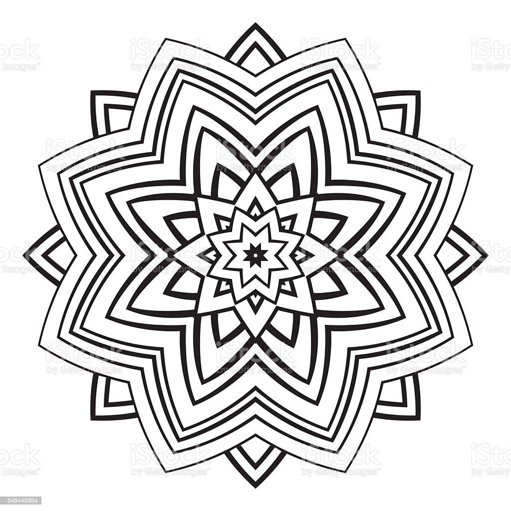 Vetores De Vetor Simples Mandala E Mais Imagens De Abstrato Istock