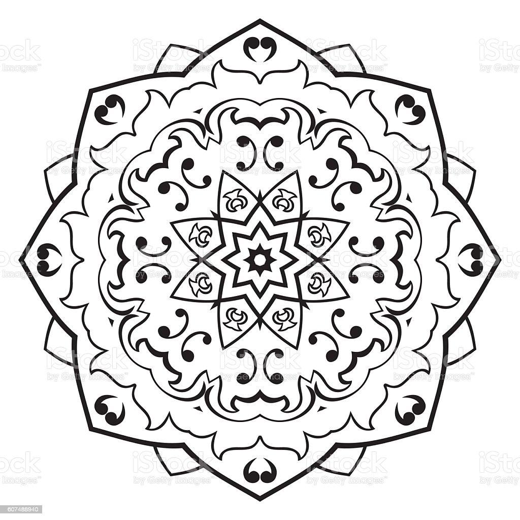 Vector Simple Mandala Stock Illustration - Download Image