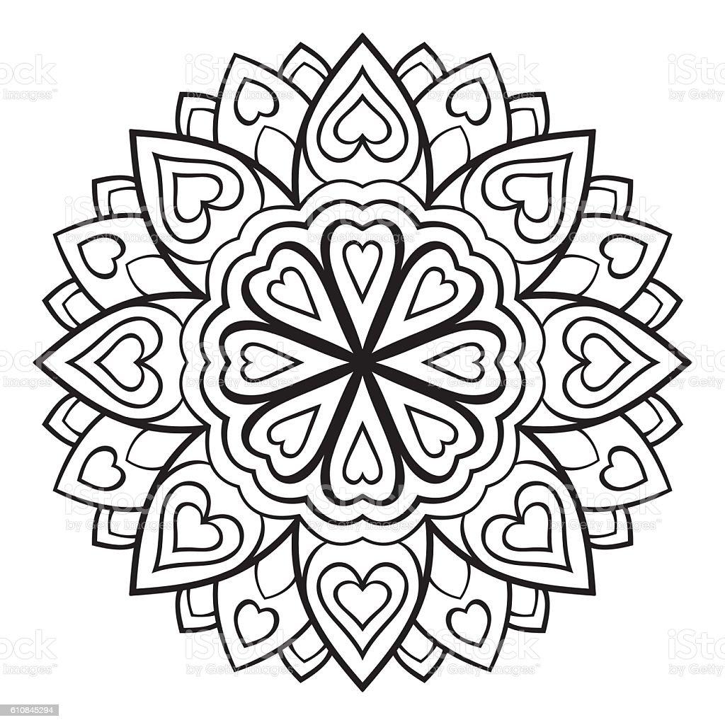 Ilustración de Mandala Simple Vector y más banco de imágenes de ...