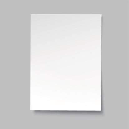 vector simple paper sheet