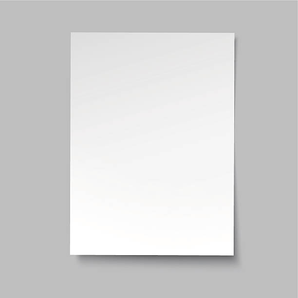 illustrations, cliparts, dessins animés et icônes de vecteur simple en papier partition - affiche