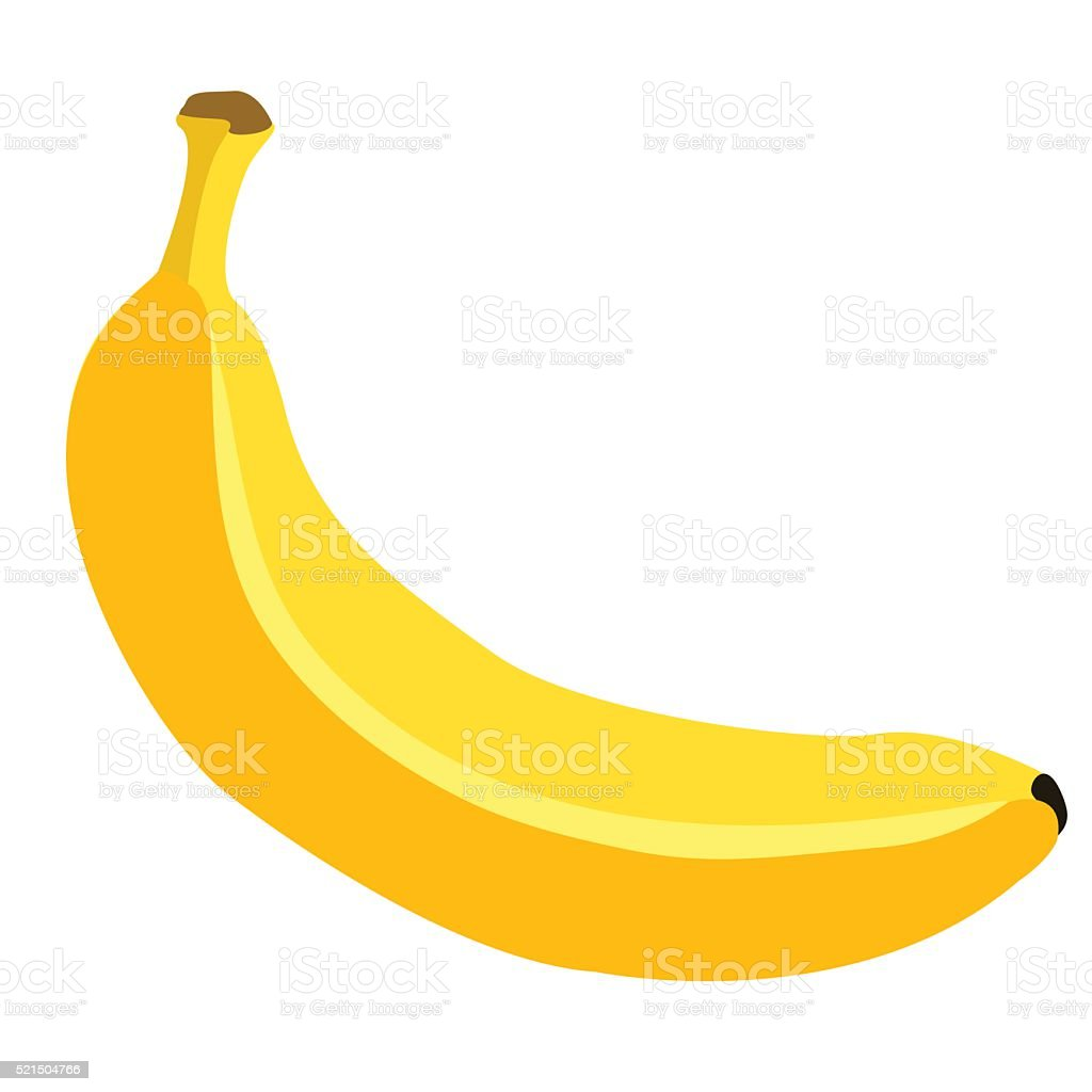 Vector Single Cartoon Banana vector art illustration