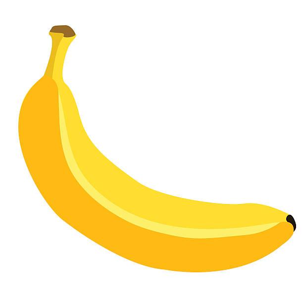 illustrazioni stock, clip art, cartoni animati e icone di tendenza di singola fumetto vettoriale di banana - banana